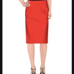 NWT Weekend MaxMara Red Pencil Skirt
